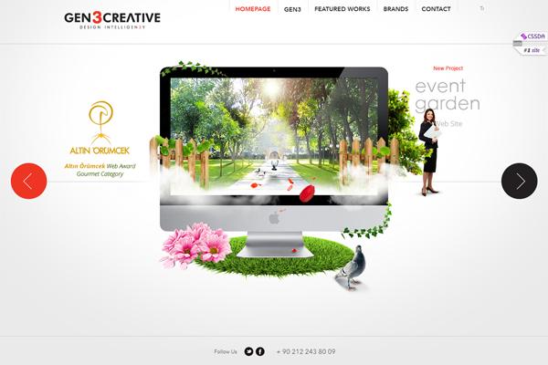красочный дизайн сайтов