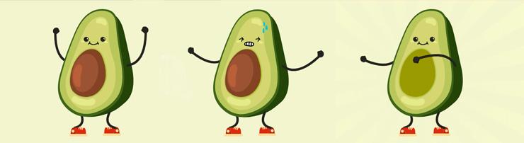 Анимация с авокадо