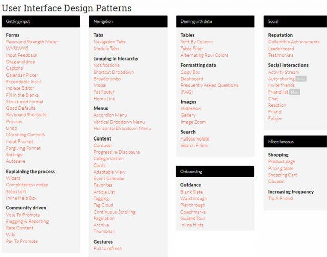 UI Patterns - паттерны дизайна