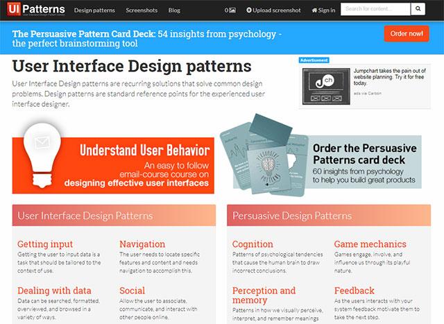Сервис UI Patterns - архив паттернов интерфейса