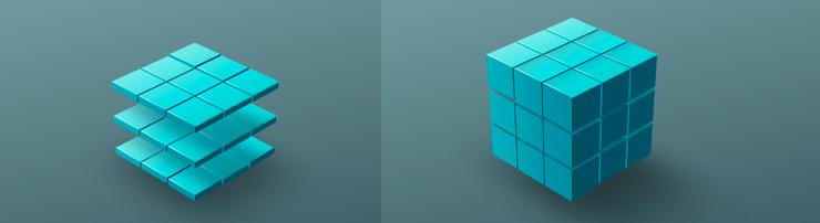 Трансформация куба на CSS