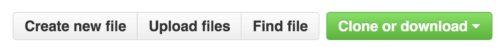 Кнопки в интерфейсе Github
