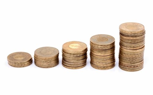 монеты столбики